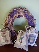 Úžitkový textil - Vrecúška na levanduľu - 7014993_