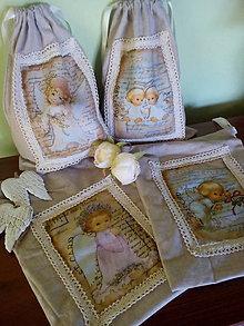 Úžitkový textil - Vrecko Anjel - 7015049_
