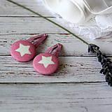 - Pukačky dievčenské s buttonkami Ružová hviezda - 7015789_