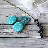 - Pukačky detské s buttonkami Tyrkysové bodky - 7015797_