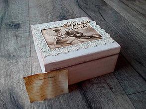d146b54fc Papiernictvo - Svadobná kniha hostí - Vintage krabička - 7016587_