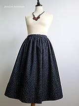 Sukne - premena starej modrotlačovej sukne - 7015289_
