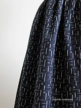 Sukne - premena starej modrotlačovej sukne - 7015290_