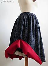 Sukne - premena starej modrotlačovej sukne - 7015291_