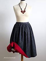Sukne - premena starej modrotlačovej sukne - 7015292_