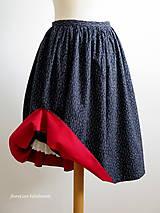 Sukne - premena starej modrotlačovej sukne - 7015293_