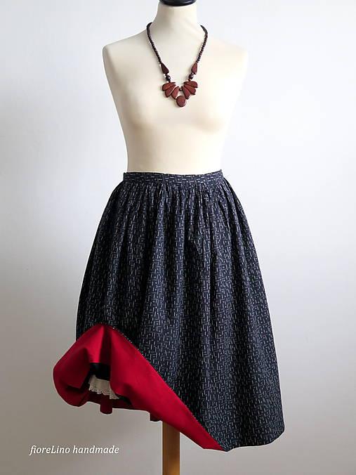 premena starej modrotlačovej sukne