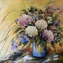 Obrazy - Kvety vo váze - 7014492_