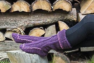 Obuv - vo vlne-fialové podkolienky 2.... č.39-41 - 7014764_