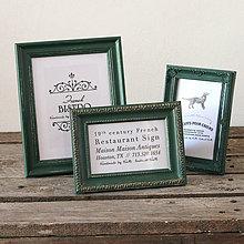 Rámiky - Poľovnícky zelený rámik na fotku - 7015333_