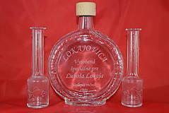 Nádoby - Gravírovanie fľaše a štamperlíkov na želanie - 7014228_