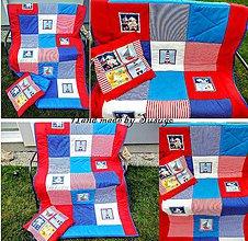 Úžitkový textil - Patchwork deka Námorník - 7016214_
