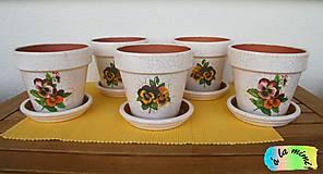 Nádoby - Sada kvetináčov so sirôtkami - 7019121_