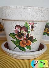 Nádoby - Sada kvetináčov so sirôtkami - 7019125_