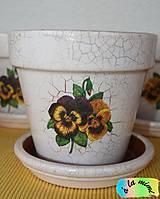 Nádoby - Sada kvetináčov so sirôtkami - 7019126_