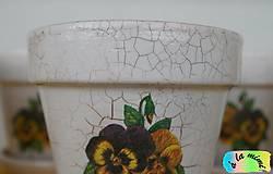Nádoby - Sada kvetináčov so sirôtkami - 7019127_