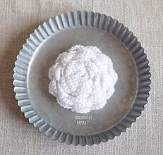 """Úžitkový textil - Uväzovač závesov MEGA ... """"biela ružička"""" - 7017165_"""