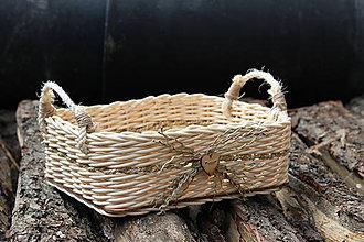 Košíky - Košík - pedig (uši - špagát) - 7020128_
