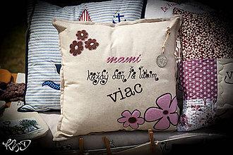 """Úžitkový textil - Vankúšik"""" Mamičke"""" - 7019942_"""