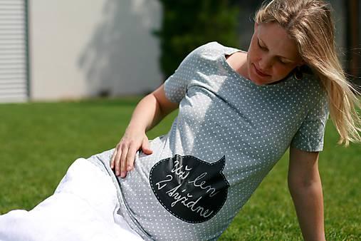 Tehotenské tričko - Odkaz vždy čerstvý - alebo tabuľa na tričku