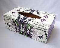 - Krabica na vreckovky- La Lavande - 7017992_