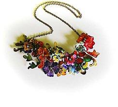 Náhrdelníky - lel-folk-flowersXXL - 7019713_