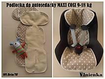 Textil - Vložka do autosedačky maxi cosi 9-18 kg 100% Merino - 7020350_