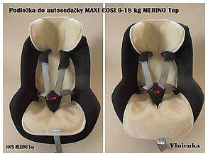 Textil - 100% merino TOP Podložka do autosedačky 9-18 kg NA MIERU - 7020612_
