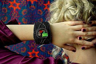 Náramky - Dichroic Bracelet n.2 - vyšívaný náramek - 7019069_