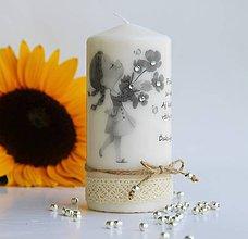 Svietidlá a sviečky - Dekoračná sviečka - pre najlepšiu priateľku II. - 7018807_