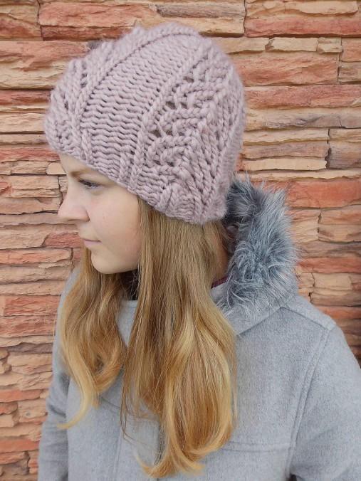 457b9ada1 Dámska pletená čiapka camel / anas - SAShE.sk - Handmade Čiapky