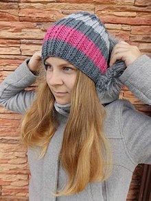 Čiapky - Dámska pletená čiapka - 7019431_