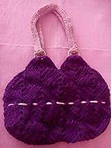 Iné tašky - Hačkovaná kabelka - 7018661_