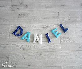 Detské doplnky - Písmenká pre...DANIEL - 7018449_