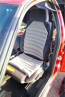Úžitkový textil - FILKI súprava do auta ľanová - 7017316_