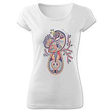 Tričká - Tričko s motívom páva - 7021142_