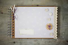 Papiernictvo - Kniha hostí / fotoalbum - pastelová fialová - 7021723_