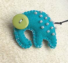 Odznaky/Brošne - Slon africký korálkový - 7022839_