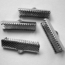 Komponenty - Koncovka na stužku-1ks (20mm-platina) - 7023242_