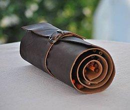 Papiernictvo - kožený peračník v rolke - 7023114_