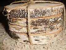 vintage svadba/podložky z drevených plátov 3 (breza)