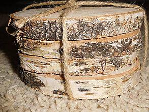 Pomôcky - vintage svadba/podložky z drevených plátov 3 (breza) - 7021477_