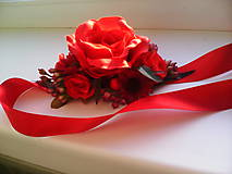 """Opasky - Kvetinový opasok """"Červená ružička..."""" - 7023263_"""