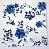 - Servítka K21- Modré kvety - 7021266_