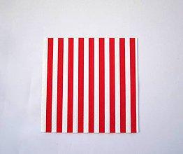 Papier - Servítka M12- Červený pásik - 7021182_