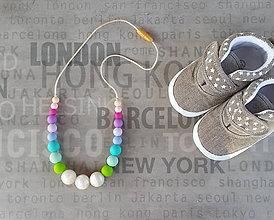 Detské doplnky - Silikónový náhrdelník na kojenie \