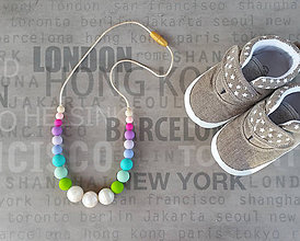 Detské doplnky - Silikónový náhrdelník na kojenie
