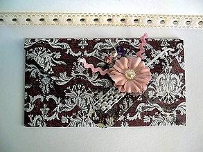Papiernictvo - Bordová s ružovou - 7022418_