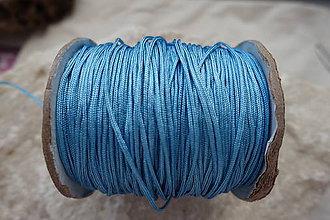 Galantéria - Nylonová šnúrka 1,5mm nebeská 35 - 7023667_
