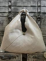 Nákupné tašky - Veľká ľanová taška 54x54 cm - 7022992_